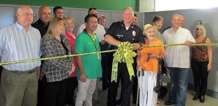 LAPD Lockers Ribbon Cutting