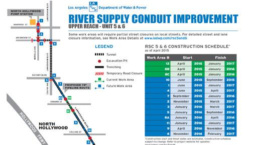 Pipe Replacement Project map and timetable