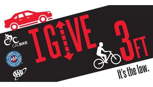 I give 3 feet for bikes graphic