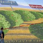 Hody's & Hughes sign in Whitsett mural