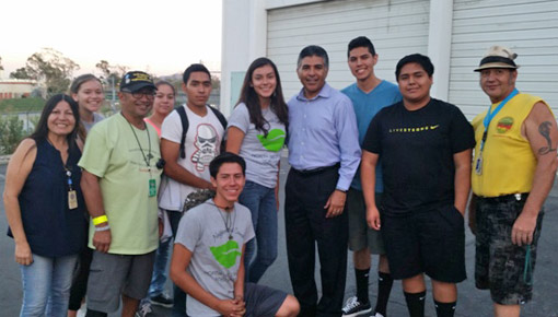 Cardenas and kids at National Night Out