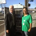 Krekorian and Ernie Moscoso at new signal