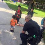 LAPD giving children Popsicles