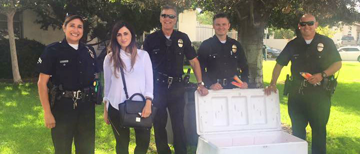 LAPD with popsicles