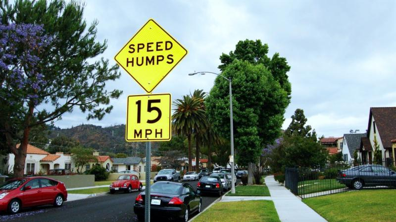Speed humps sign