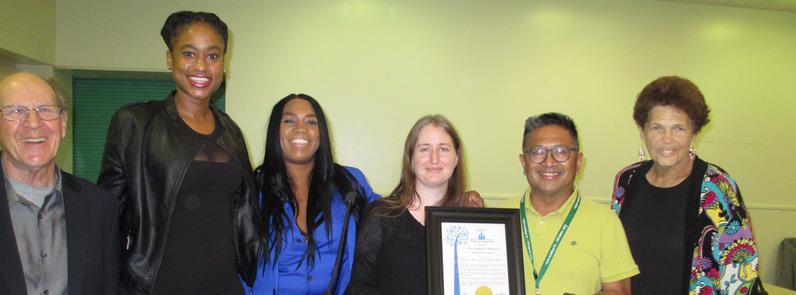 NHNENC members and 15 year award
