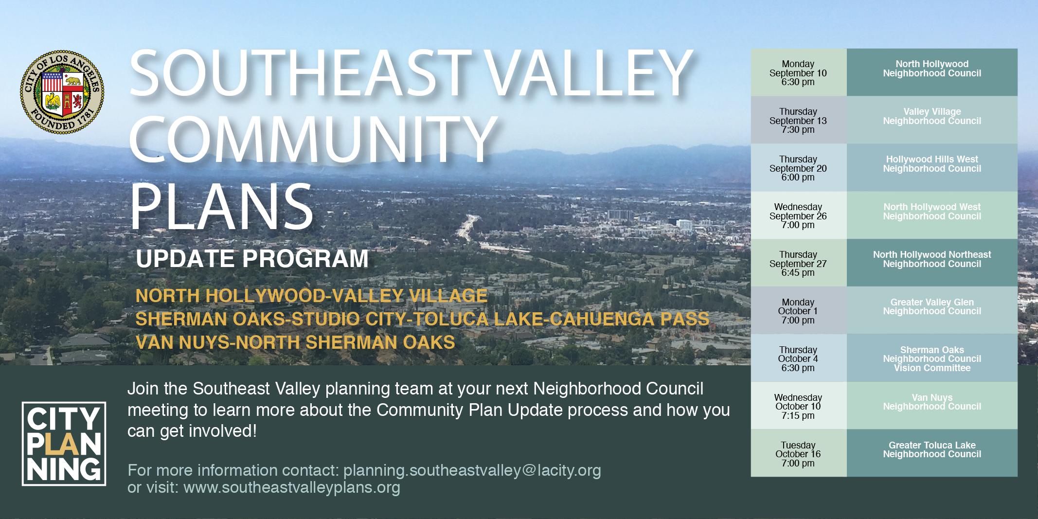 Southeast Valley Community Plan Meetings