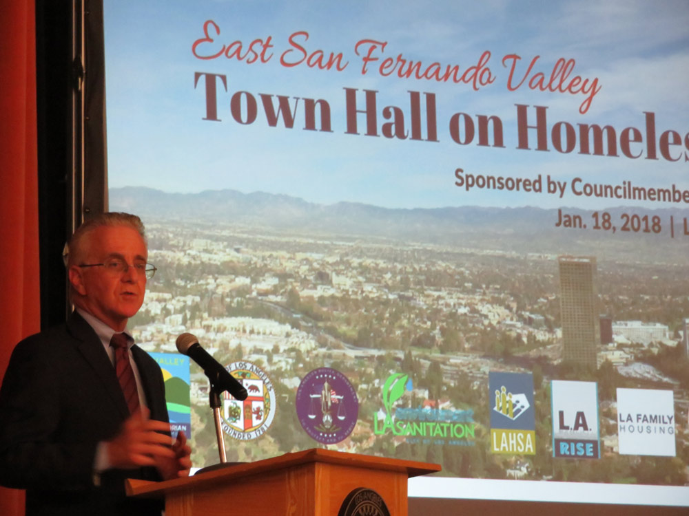 Krekorian at Homeless Town Hall