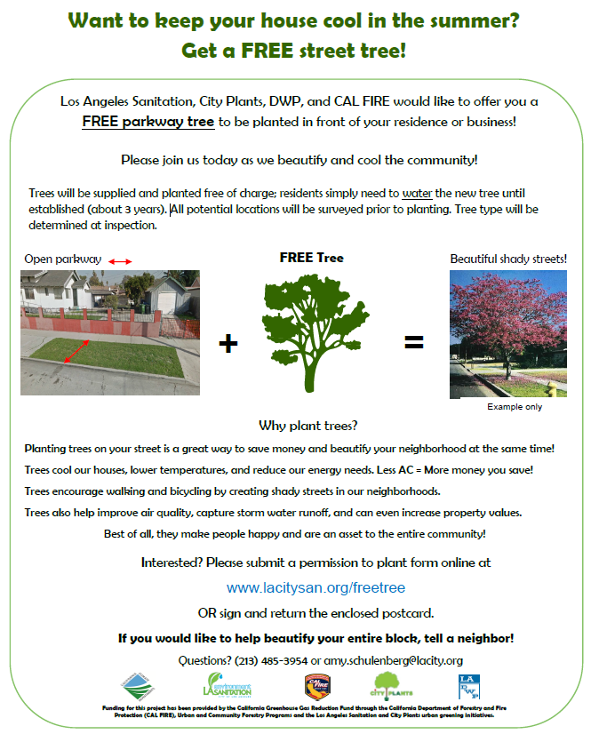 Get a free street tree city from sanitation