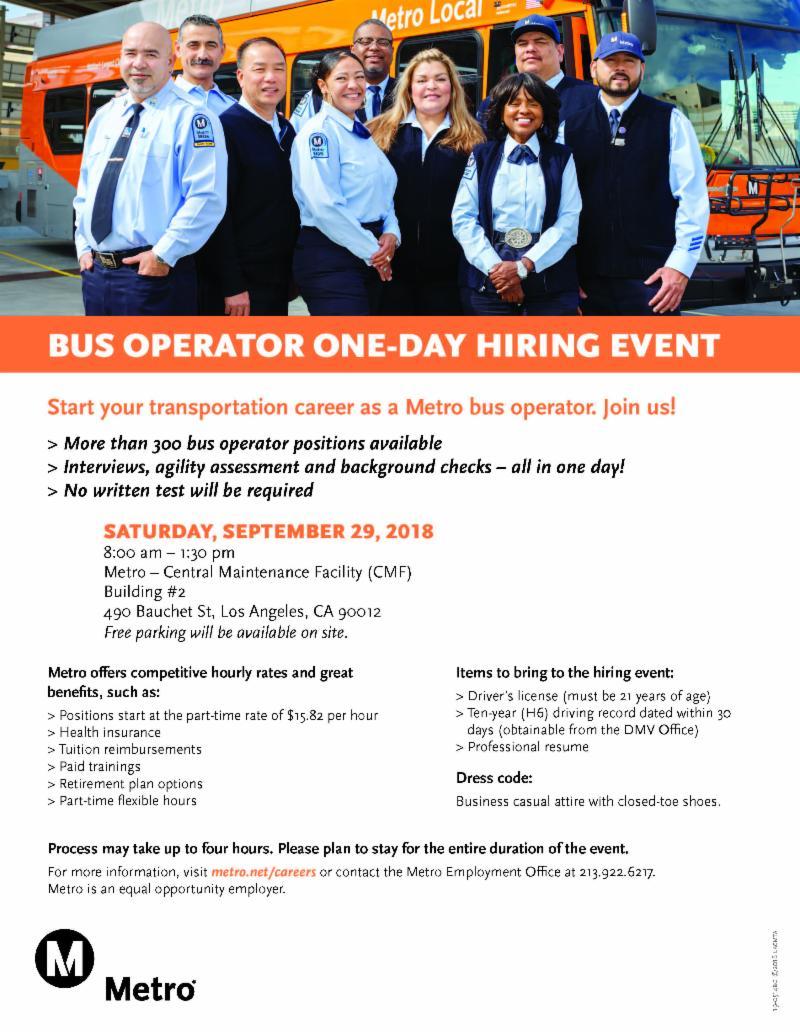 Bus Operator Hiring Event