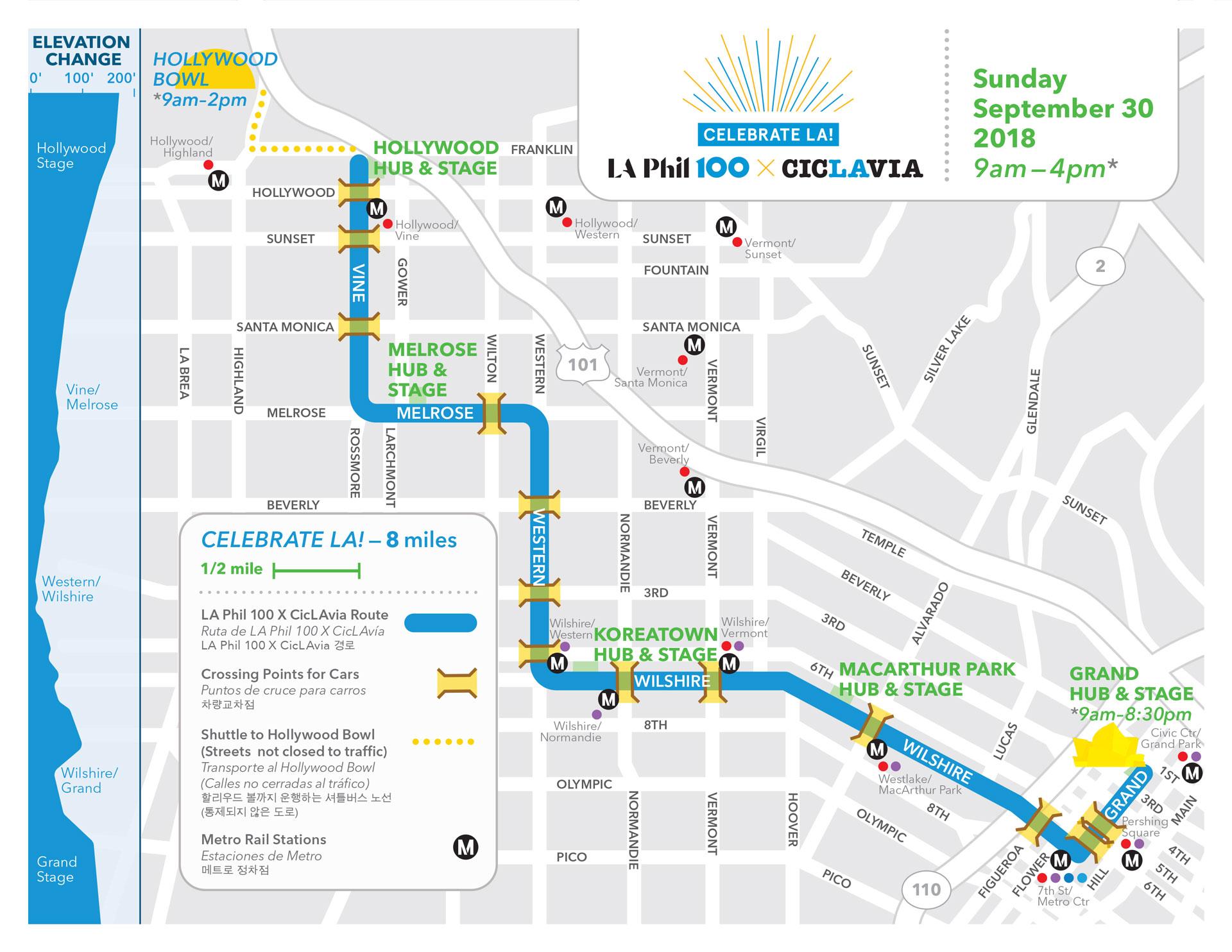 Celebrate LA Event Map