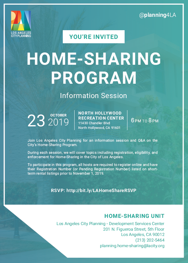 Home Sharing Info Session