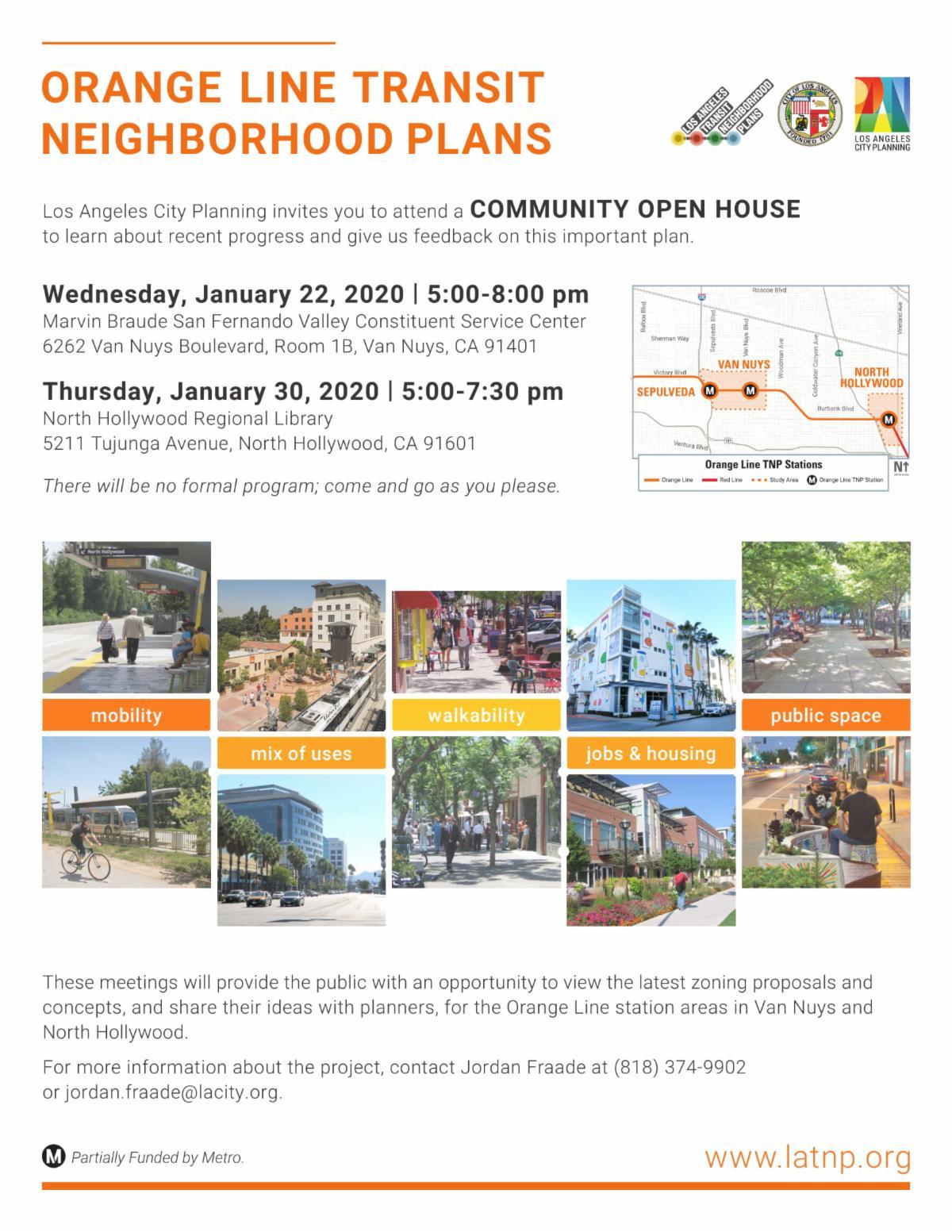 Orange Line Transit Neighborhood Plans Community Meetings