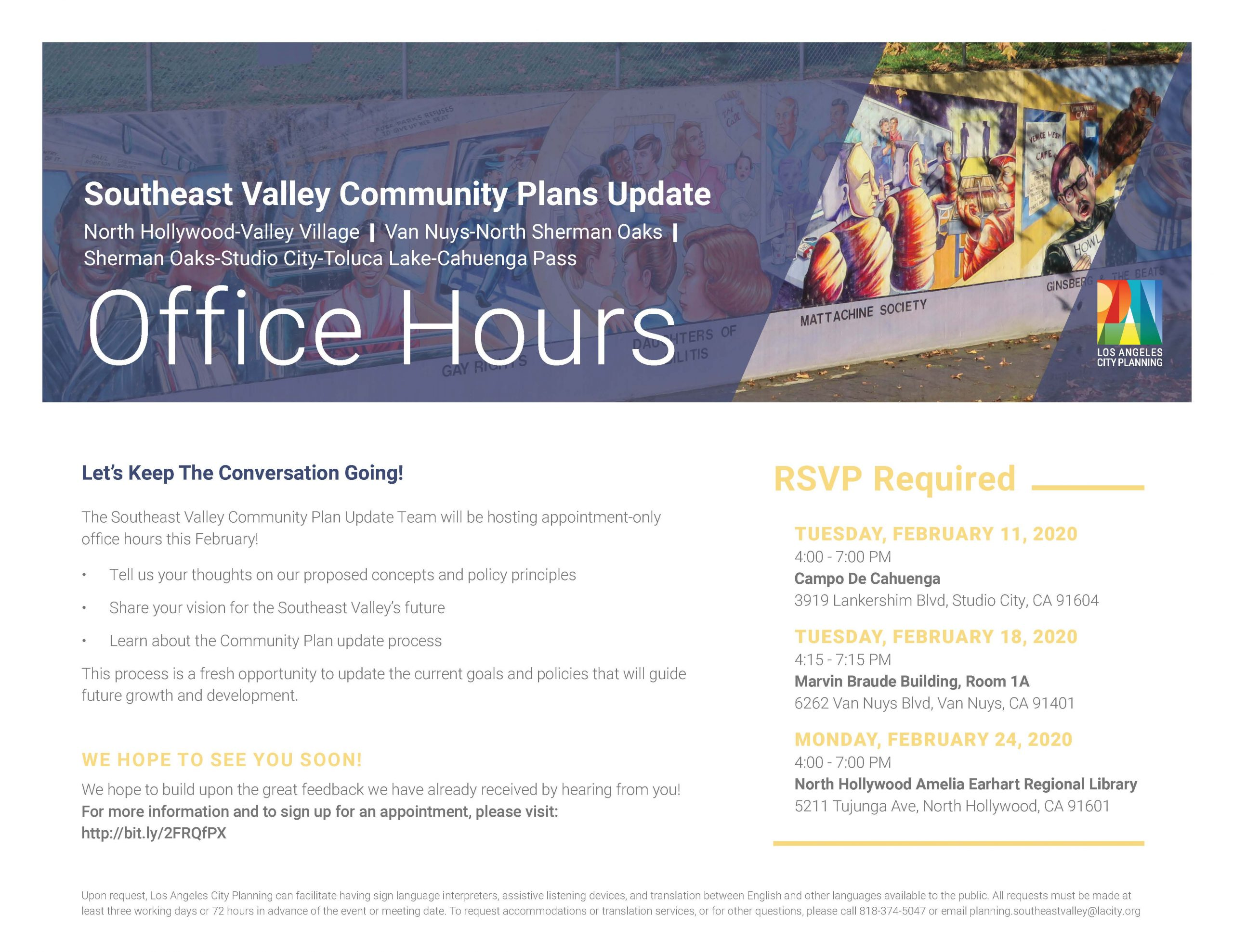 Southeast Community Plan Office Hours