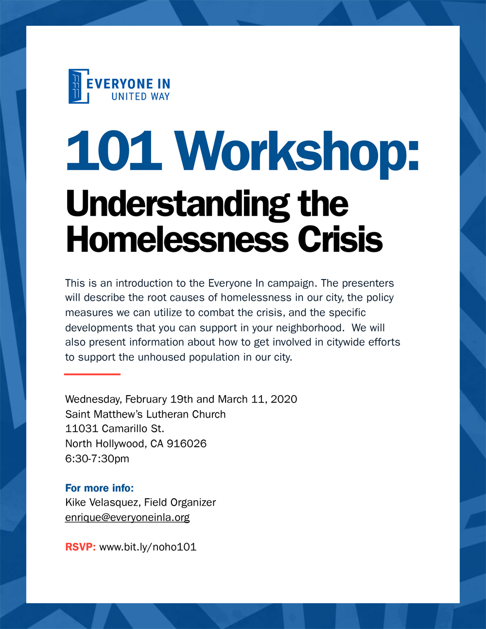 Understanding the Homeless Crisis Workshop
