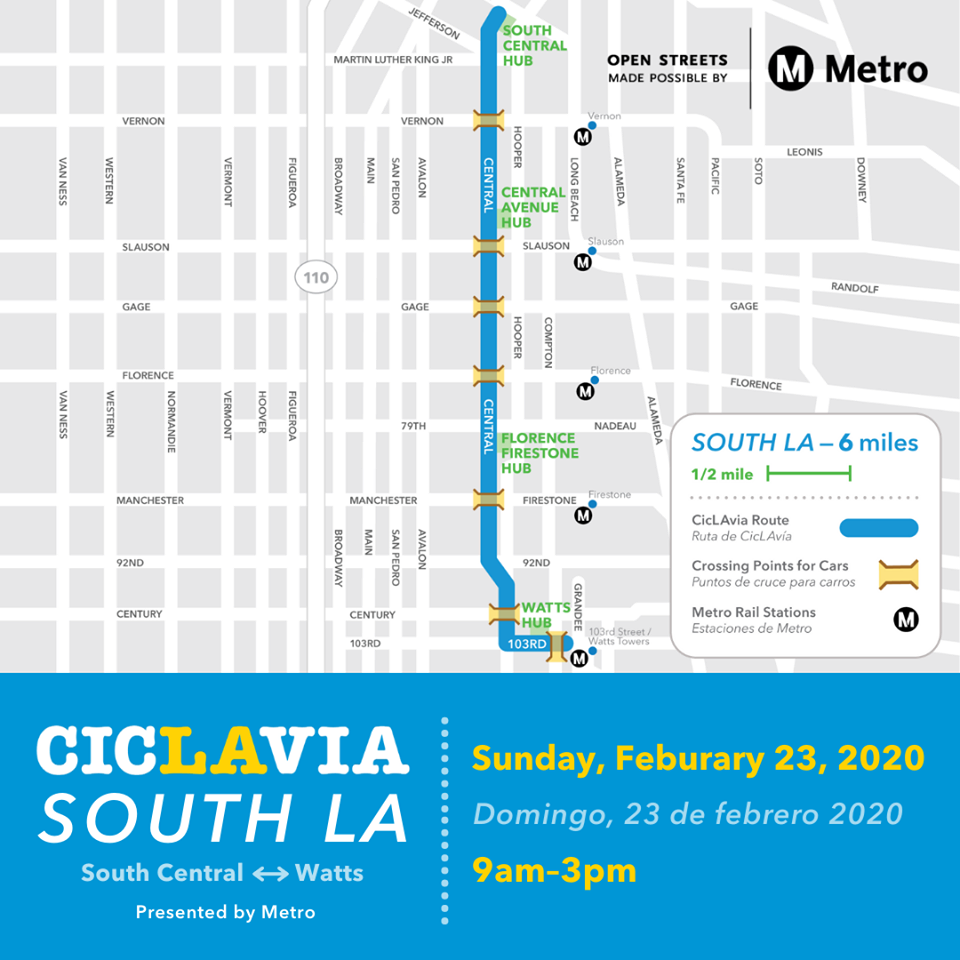 CicLAvia route map