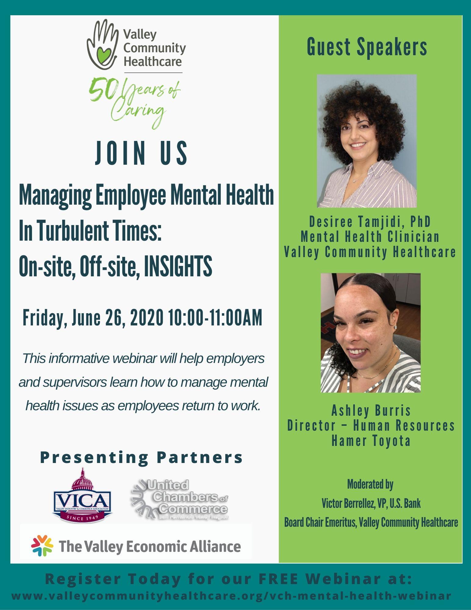 Managing Employee Mental Health Webinar