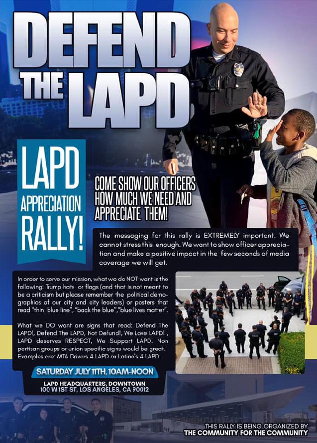 LAPD Appreciation Rally