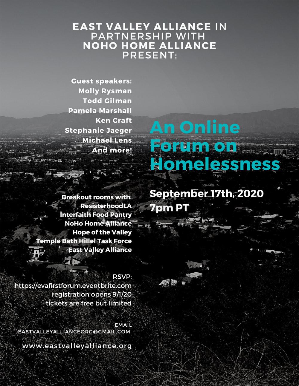 Forum on Homelessness