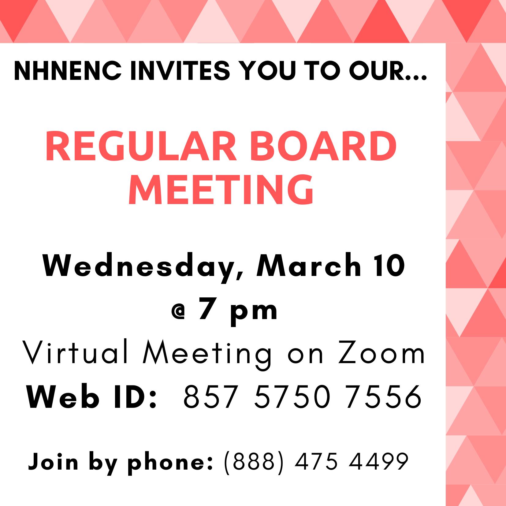 Meeting announcement