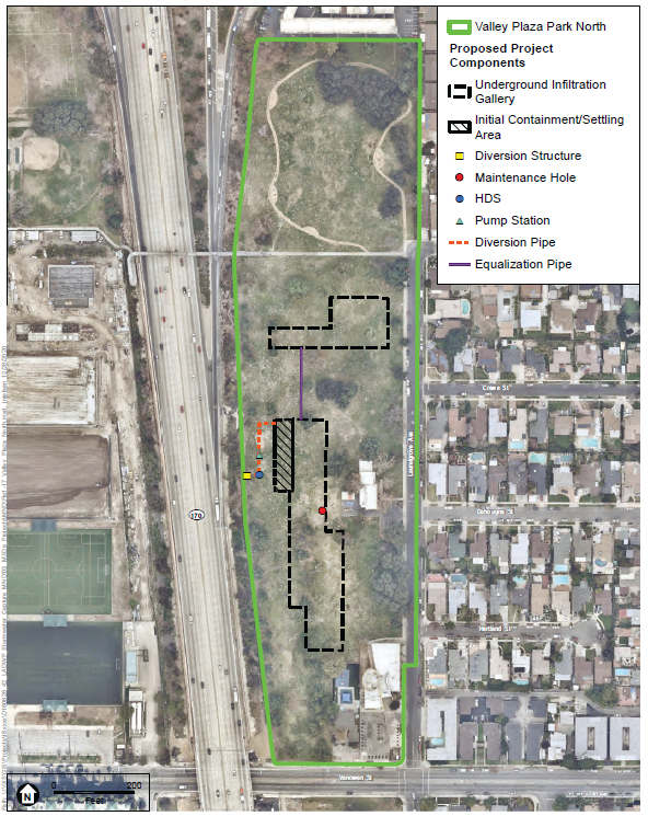 Valley Plaza North Stormwater Capture Project Map