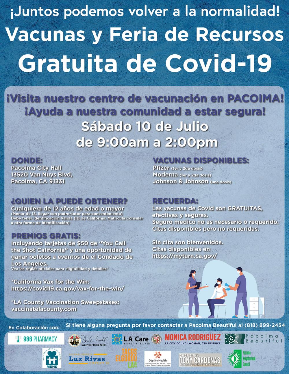 Vaccine & Resource Fair in Spanish